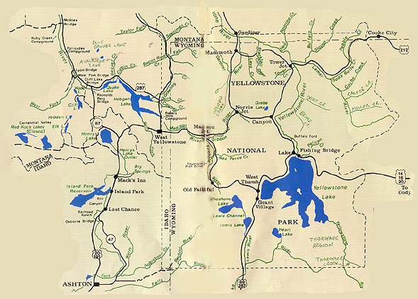 Yellowstone Fly Fishing Map